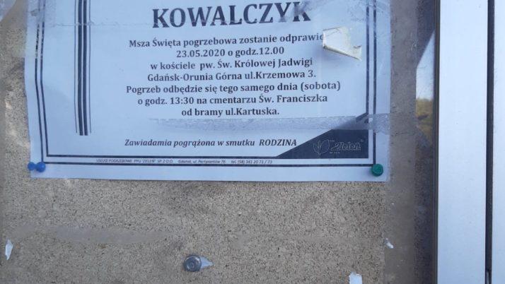 Pogrzeb Krzysztofa Kowalczyka 23.05.2020r